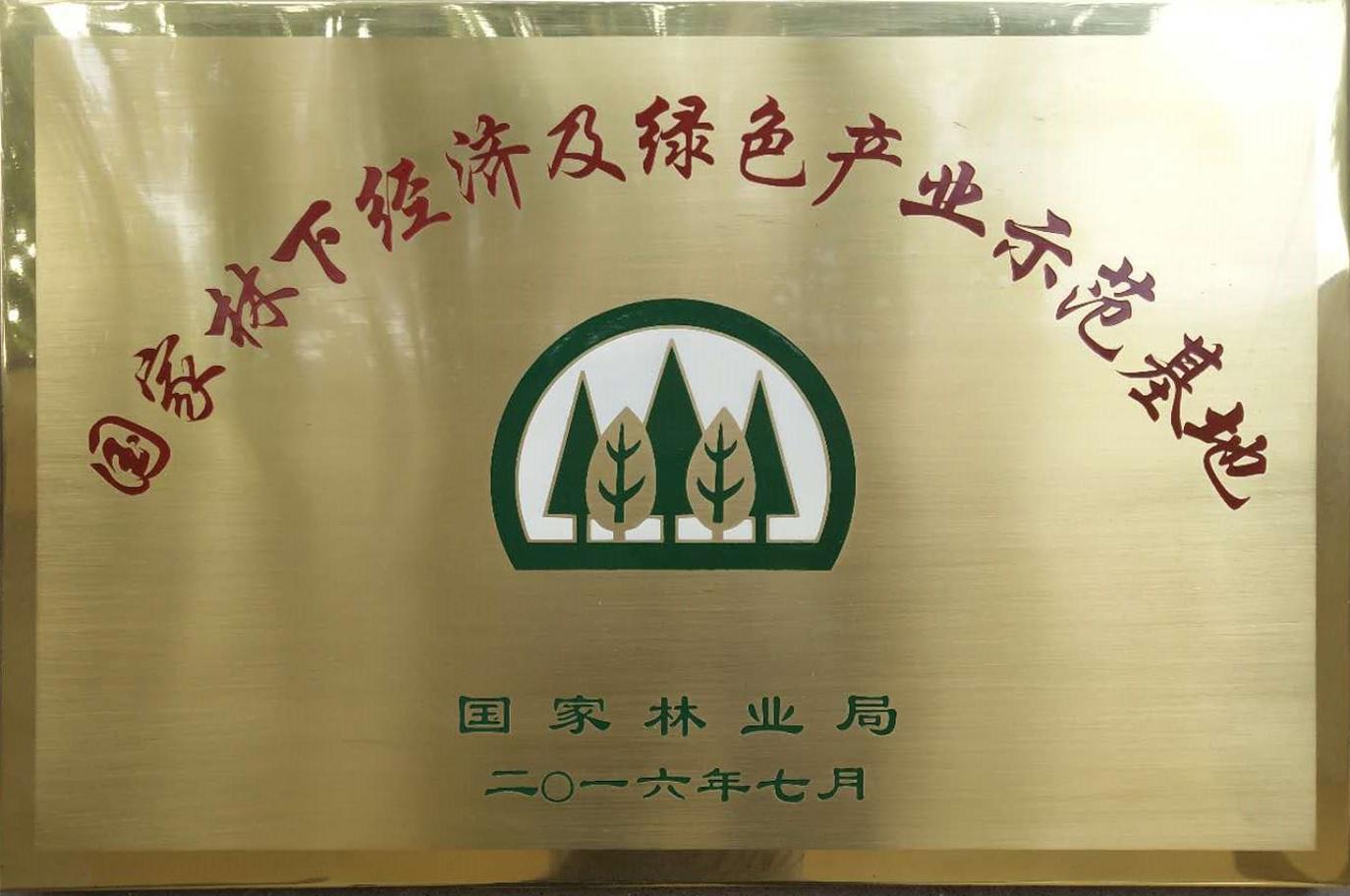 2016国家林下经济及绿色产业示范基地(国家林业局)
